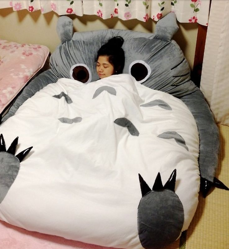 There Is A Totoro Design Bed One Or Double BedYour Children Would Love It Giant Sleeping Bag Dream In Surprise For Your Beloved Kids