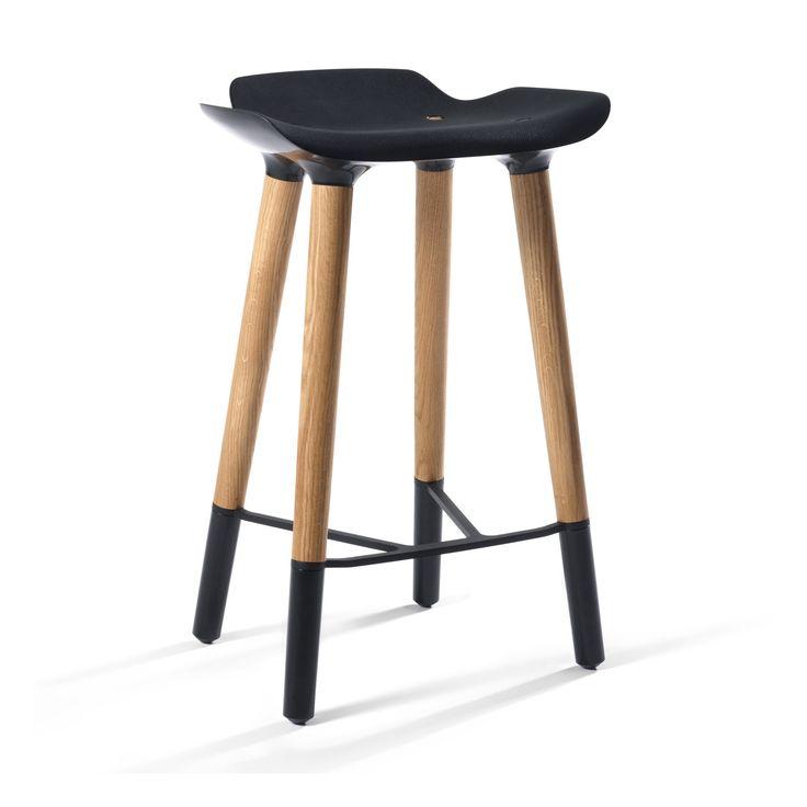 Danish Counter Seat: Pilot Danish Modern Counter Stool Black Seat En 2019