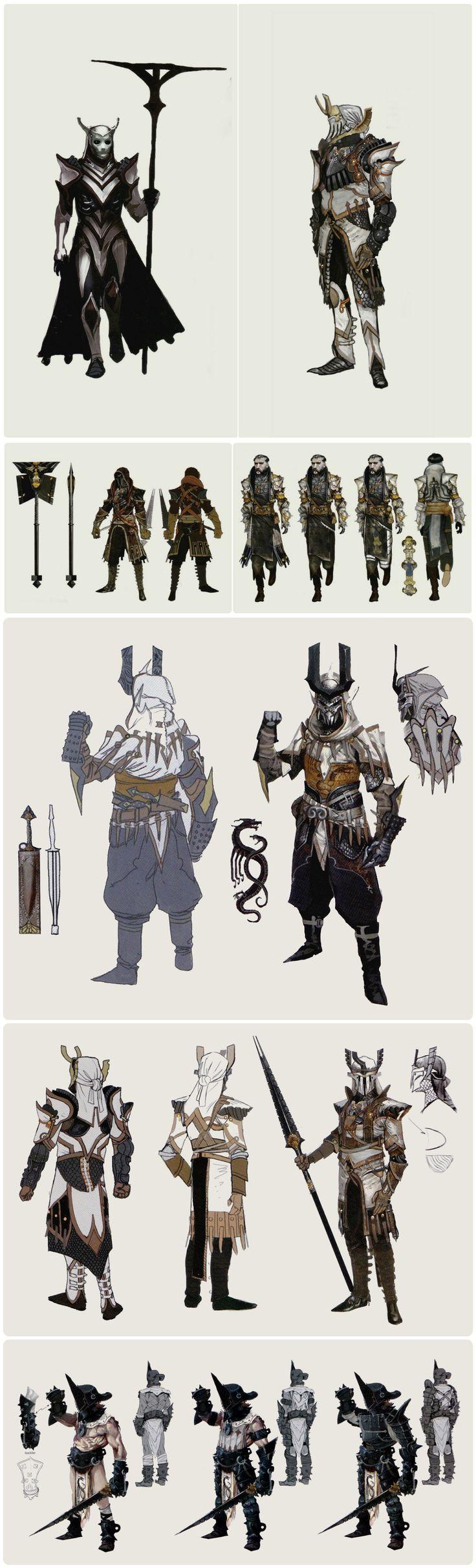 Venatori concept art in The Art of Dragon Age: Inquisition