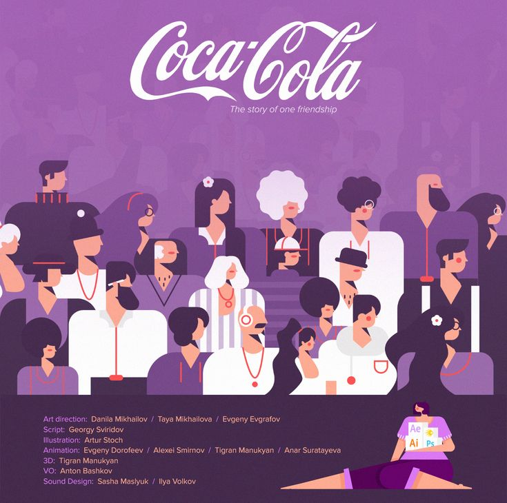 Coca-Cola. The History of One Friendship.This is a series of animated videos that tell the story of the importance and investment of the Coca-Cola company in the development of Russia.