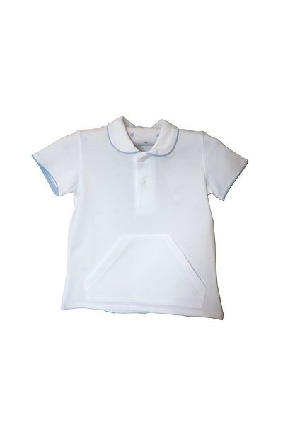 Ancar White Polo shirt with pocket