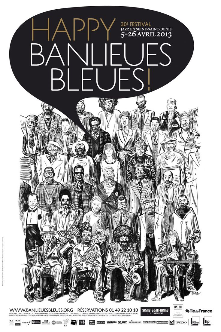 Blutch - Poster for Banlieues Bleues (2013)