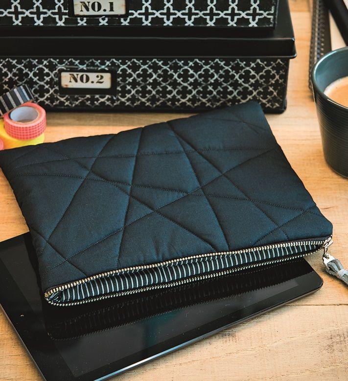 Diese schmucke Tablet-Tasche einfach mal selbst nähen? Na klar! Ganz easy mit…                                                                                                                                                                                 Mehr