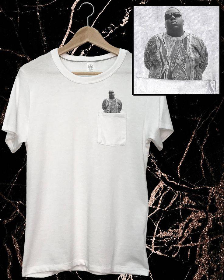 Biggie Smalls Pocket T-Shirt Notorious BIG Shirt Rapper White Tee Custom Hip Hop Pocket Tee Funny Rap Music Hip Hop Biggie T-Shirt 90s Music by SavageLeague on Etsy https://www.etsy.com/listing/522600985/biggie-smalls-pocket-t-shirt-notorious