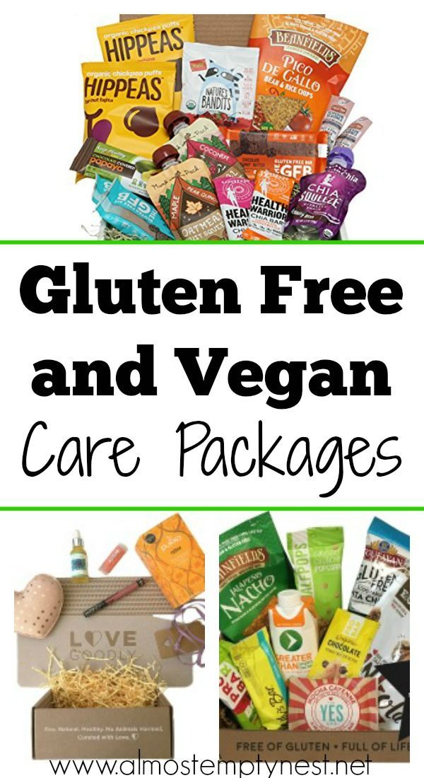 Gluten Free and Vegan Care Packages: Ideas for gluten free and vegan care packages #glutenfree #vegan #collegecarepackage