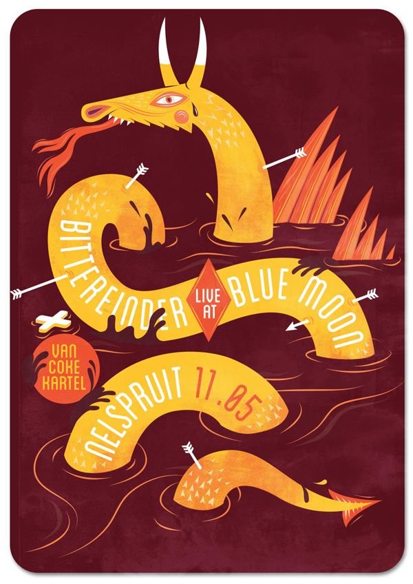 BITTEREINDER POSTER by Sonia Dearling, via Behance