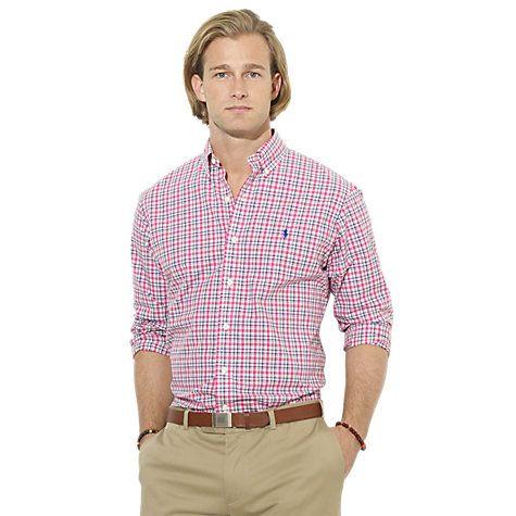 Buy Polo Ralph Lauren Striped Poplin Cotton Shirt Online at johnlewis.com