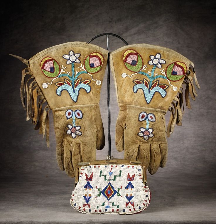 Two Northern Plains Beaded Items