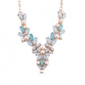 Moda Exagerada Collar Colgante de Diamantes Grandes Fsn397