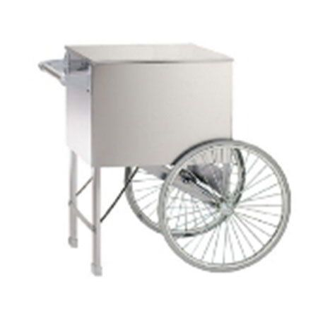 "Gold Medal 2015ST Popcorn Cart w/ 2-Spoke Wheels, Stainless, 38x27"""