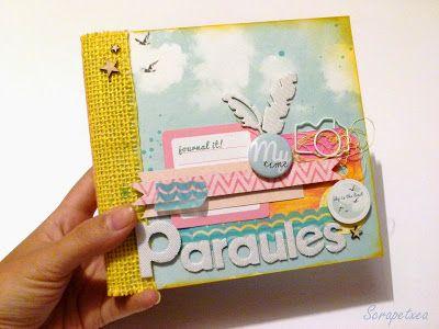 Mini 'Paraules' - Project Judy Alonso para Kits de Somni #kdsProjectJudy http://scrapetxea.blogspot.com.es/2013/11/mini-paraules-project-con-judy-para-kds.ht