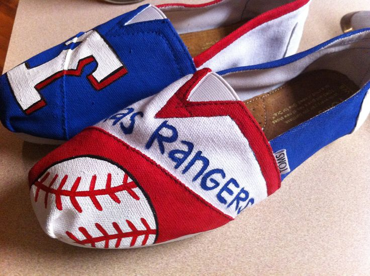 texas rangers painted toms | Personalized TOMS by DesignsByMicahInc on Etsy