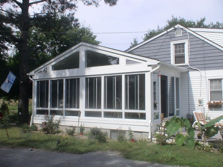 A frame screened in front porch minus the windows for Enclosed porches and sunrooms