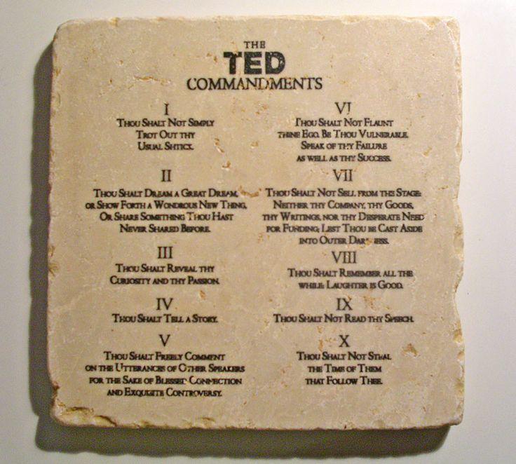Десять заповедей TED для идеального спикера | Event-Live