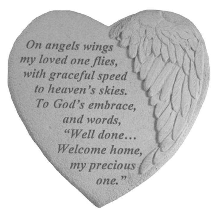 Kay Berry On Angels Wings Memorial Garden Stone - 08915