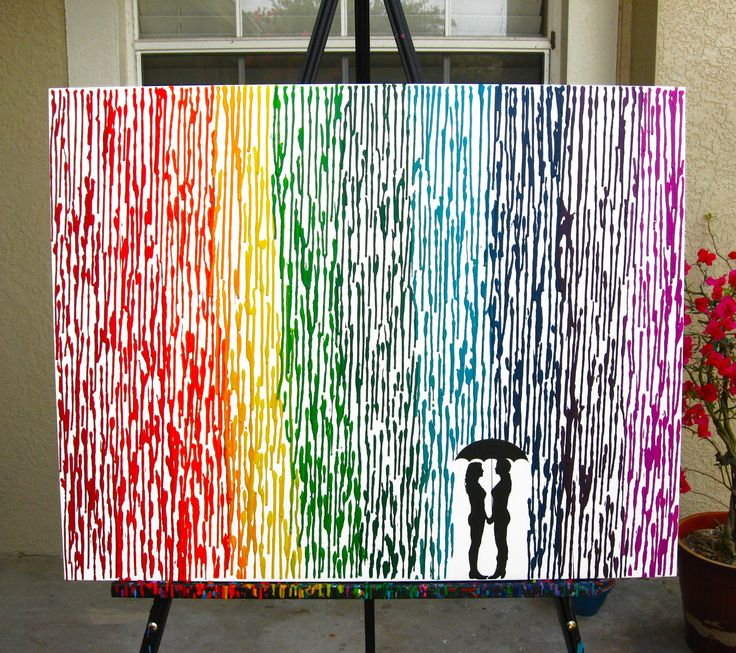Lesbian Wedding Gift, Melted Crayon Art, Rainbow Painting, Lesbian Pride Umbrella Painting, Rainbow Decor, Couple Silhouette Lesbians 22x28 by FemByDesign on Etsy https://www.etsy.com/listing/242320040/lesbian-wedding-gift-melted-crayon-art