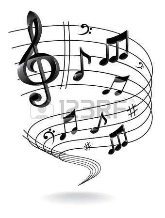 Arrière-plan avec note de musique. Banque d'images - 16579461
