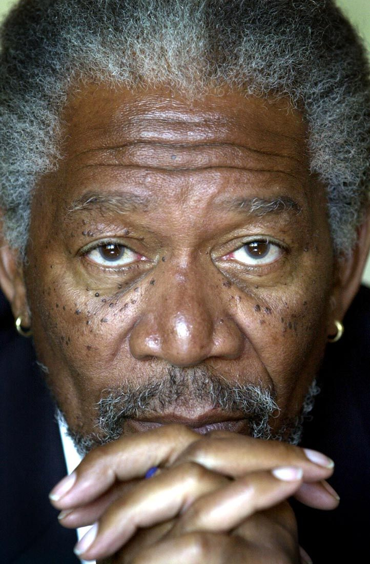 Morgan Freeman/ I would love this man to read me a bed time story every night. Such a great voice!