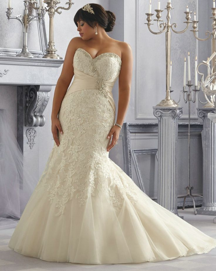 Plus Size Dresses To Wear To A Wedding: Style 3165 Sweetheart Corset Wedding Dresses Mermaid
