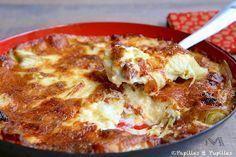 Gratin de poireaux au chorizo et fromage