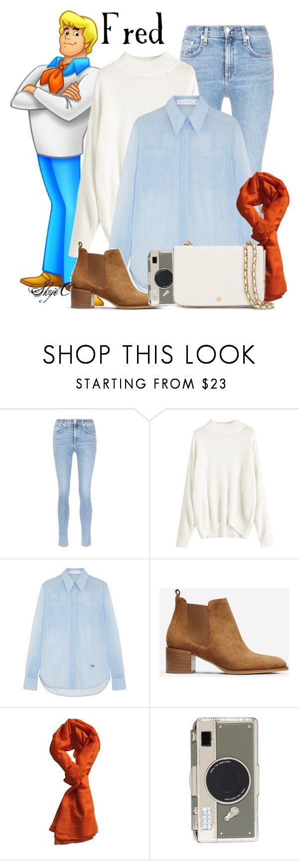 """""""Fred - Scooby Doo"""" by rubytyra ❤ liked on Polyvore featuring rag & bone/JEAN, Victoria Beckham, Everlane, Hermès, Kate Spade and Tory Burch"""