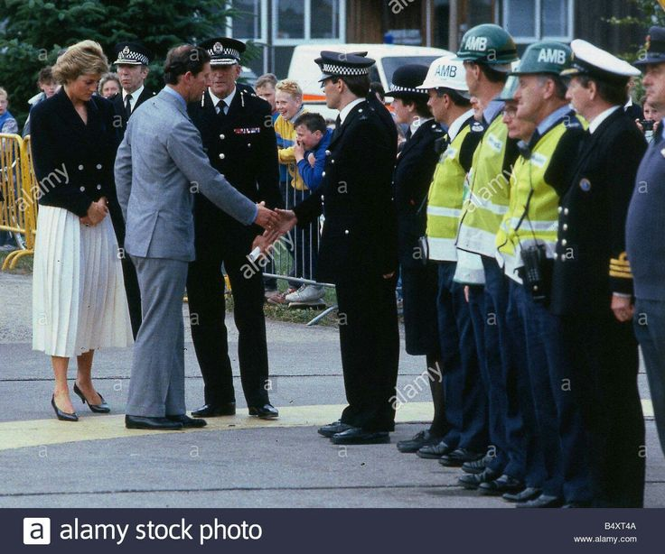 July 08, 1988: Princess Diana and Prince Charles visit Aberdeen to meet the rescue workers who went to the aid of the Piper Alpha oil platform which exploded in the North Sea on July 6, killing 160 people