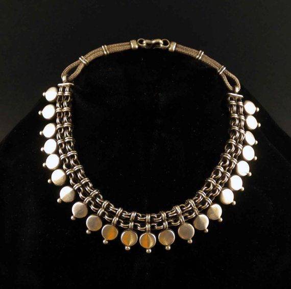 Vintage sterling silver necklace from India.