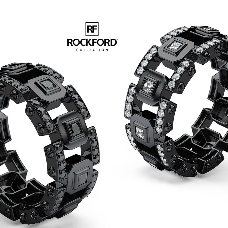 Black Gold LA PAZ Diamond Men's Ring Design Concept by Rockford Collection   SHOP at www.rockfordcollection.com Worldwide Shipping