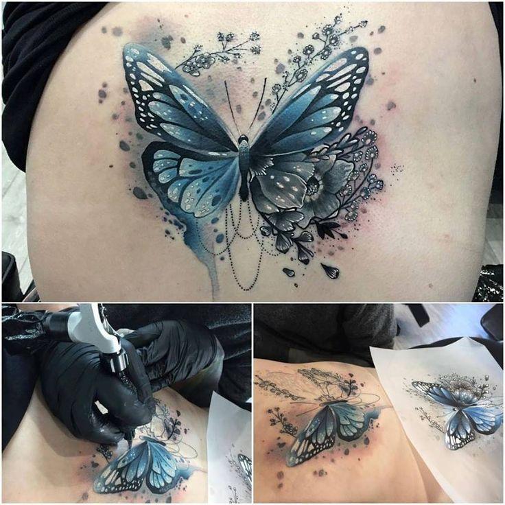 Blaue Schmetterling Tätowierung  #blaue #schmetterling #tatowierung
