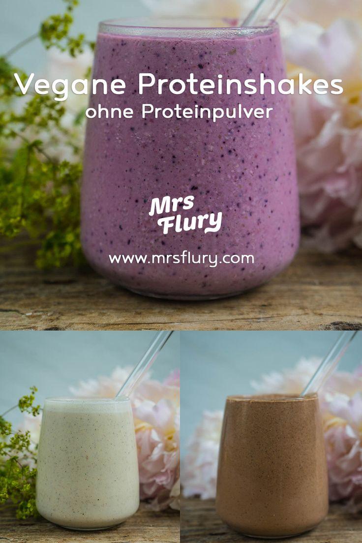 3 vegane Protein Shakes ohne Proteinpulver Mrs Flury – Gesunde Rezepte Mrs Flury …   – Beste Gesunde Rezepte – Gruppenboard