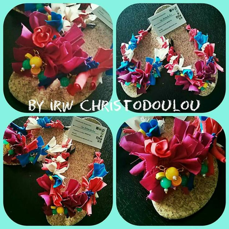 #new #sandals #sandalia #colours #pink #fuxia #blue #green #koralli #mpez #match #more #fruit #summer #fabric #fb #group #handmade #accessories #by #irw #christodoulou #special #order