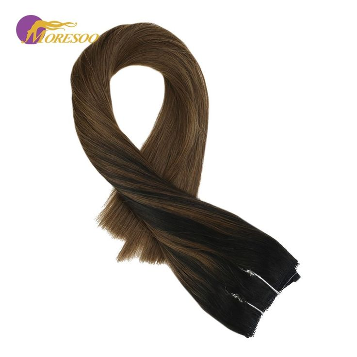 Moresoo Flip in Real Remy Human Hair Extensions Ba…