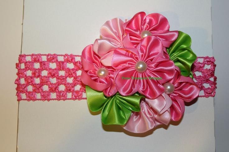 Headband flower cluster