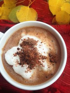 Hot Chocolate Protein Recipe 1 c. water 2 Tbsp. chocolate protein powder 1 tsp. unsweetened cocoa powder