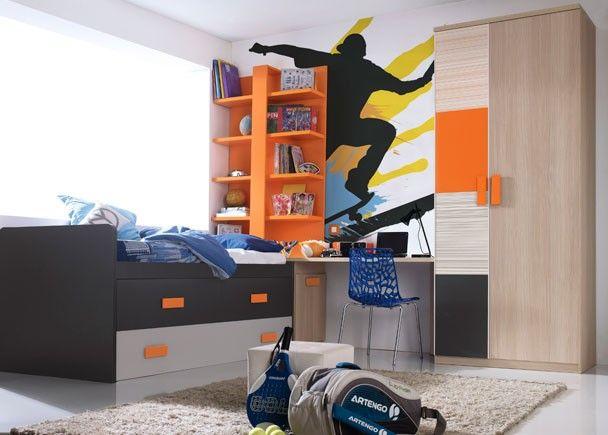Las 25 mejores ideas sobre dormitorios de j venes varones - Ver habitaciones de ninos ...