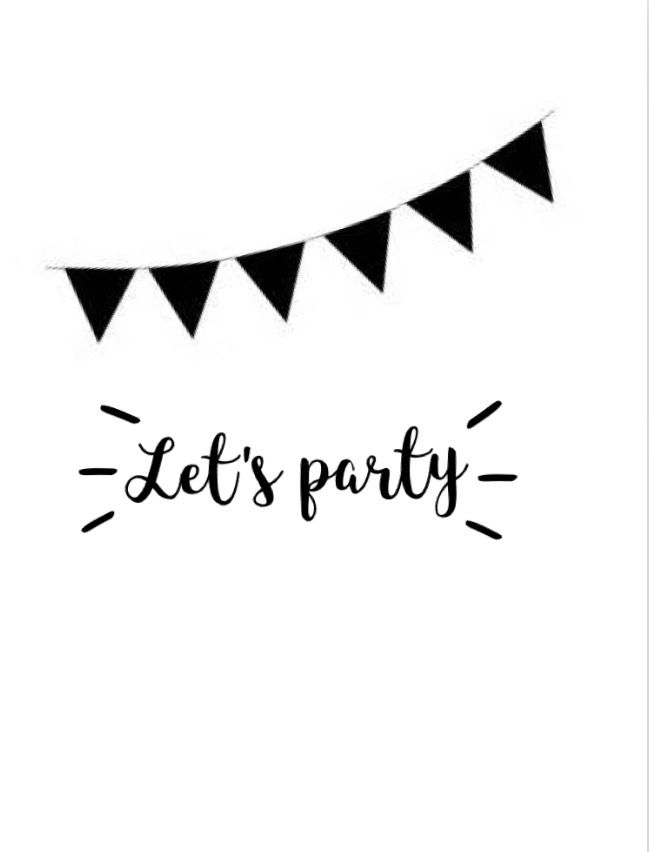 //Let's party lettering//