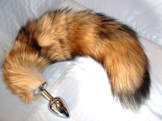 Butt Plug Anal Tail Small Medium Large Or Set Of 3 Red Fox -9172