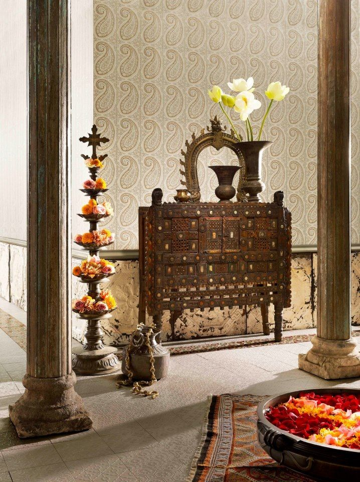 Best 25 indian interiors ideas on pinterest for Simple diwali home decorations