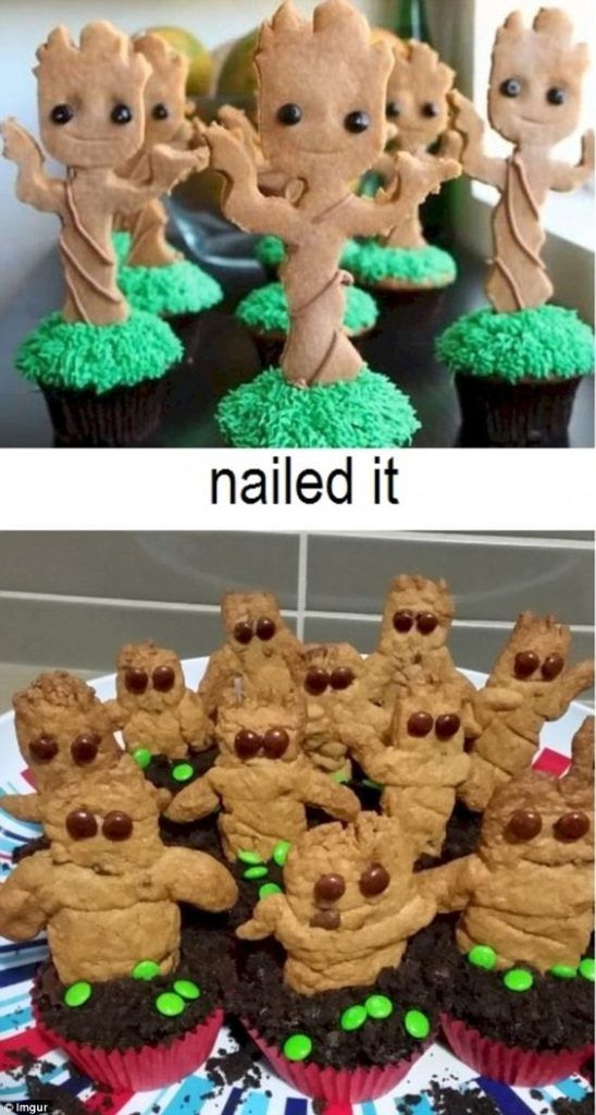 pinterest-fails-groot-cookies | Nailed it Funny Pinterest