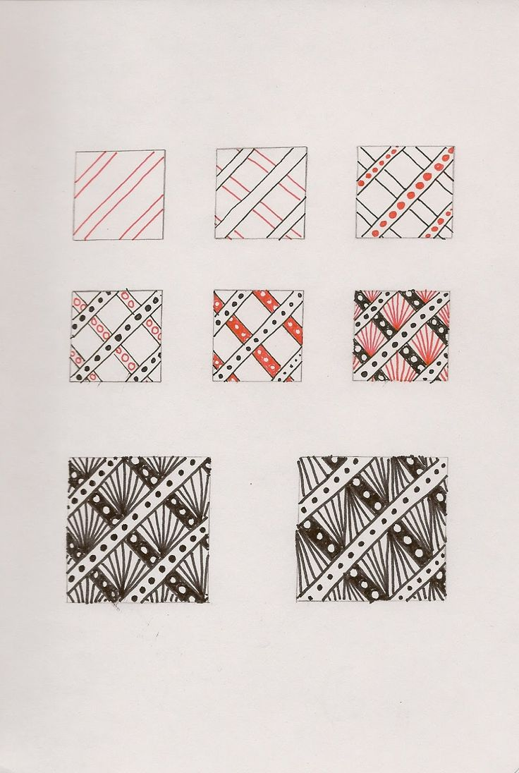 """Riveting is a grid-based tangle that utilizes the overlapping (or should I call it """"underlapping"""") quality of Hollibaugh."""