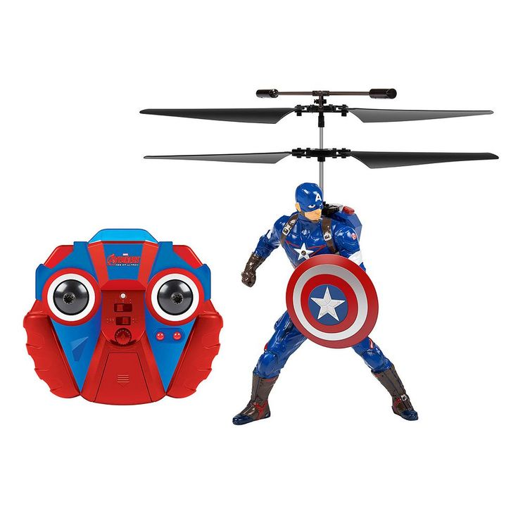 Marvel Avengers Captain America Remote Control Helicopter by World Tech Toys, Multicolor