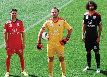 Adelaide United FC 2014/15 Kappa Home and Away Kits