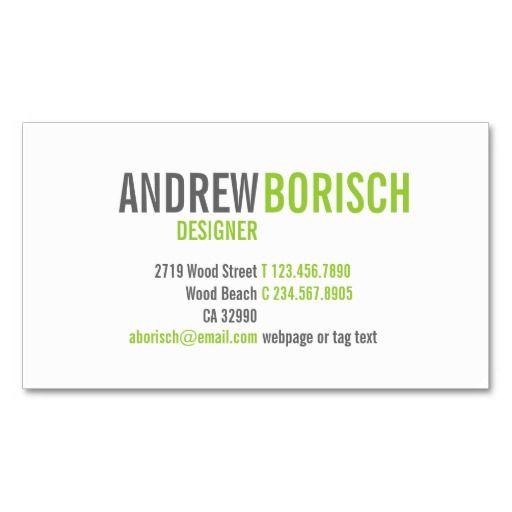 32 best vistaprint business cards images on pinterest vistaprint modern white lime green business card template colourmoves