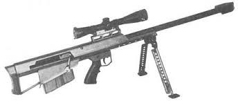 Barrett Light 50 Sniper Rifle captured by 22 SAS covert reactive troop in April 1997 during arrest operation of the South Armagh Sniper team at a large farm complex on the Cregganduff Road near Crossmaglen.