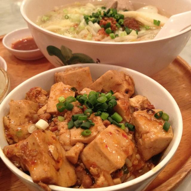 麻婆丼と麺