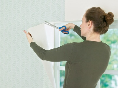 Wallpaper adds a decorative element to any room. Follow these step-by-step instructions for hanging wallpaper on a flat wall and around windows and doors. #diynetwork