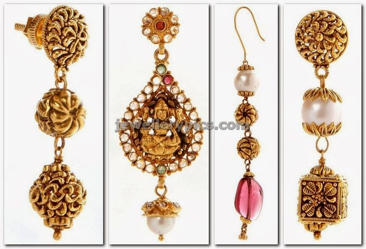antique gold hangings by nac jewellers