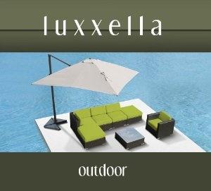 Luxxella Gazebo 7 pcs Outdoor Patio Wicker Furniture Sofa Set PERIDOT