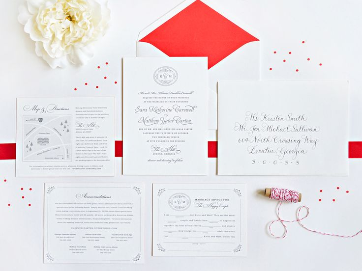 Katie Matts Classic Southern Wedding Invitations