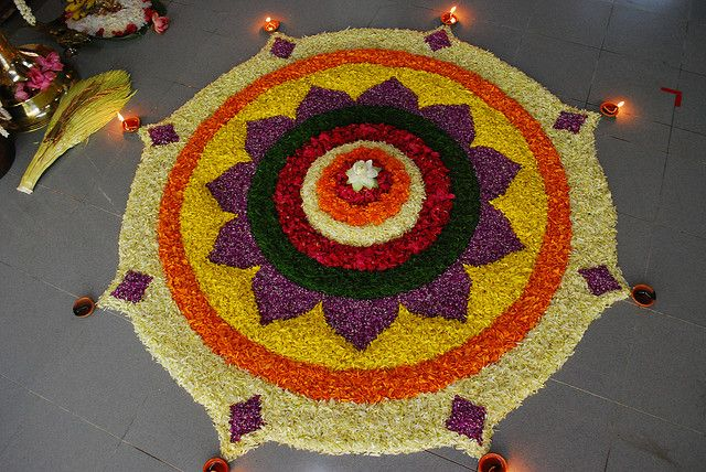 Latest Vanitha Onam Pookalam Rangoli Competition Pics Gallery for Free Download